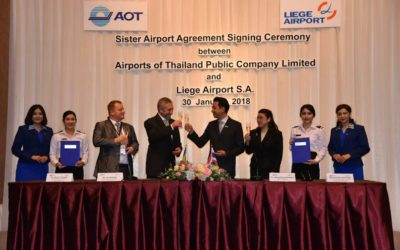 Sister Airport Agreement Signing Ceremony between Airports of Thailand Public Company Limited and Liege Airport S.A.