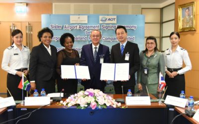 Sister Airport Agreement Signing Ceremony between AOT-ACSA
